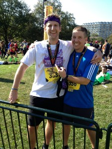 Marc and Josh at Finish Line